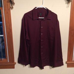 Van Heusen XXL 18-18 1/2 Men's Shirt Maroon